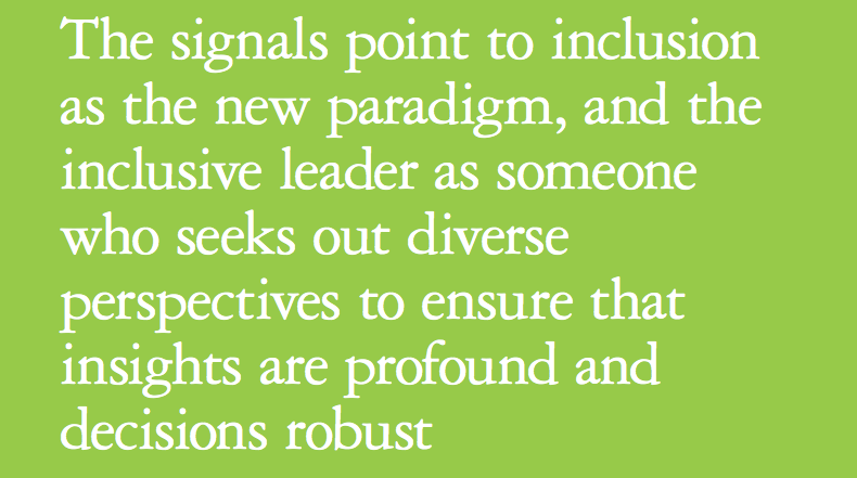 Extract from Deloitte's Inclusive Leadership whitepaper