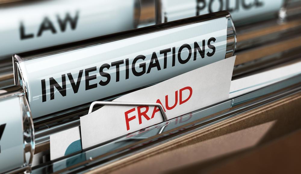 Fraud investigation folder