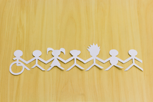 Social Inclusion Paper Doll Chain